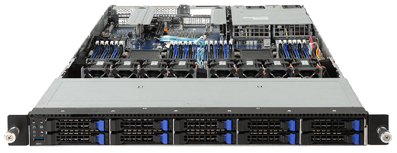Intel Xeon Scalable Barebones Gigabyte R181 2a0 Rack Server
